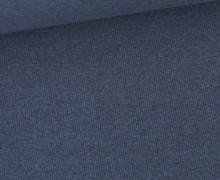 Bündchen Standard - Feine Rippen - Uni -  Taubenblau Dunkel Meliert - #068