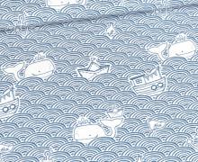 Exklusiv Baumwolle - Wellengang Ahoi 2.0 - Weiß - Bio-Qualität - Von Lange Hand - abby and me