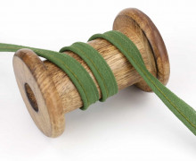 1 Meter Paspelband - Baumwolle - 1cm - Uni - Grün