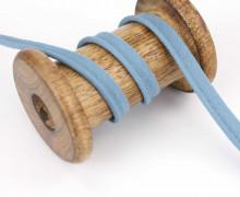 1 Meter Paspelband - Baumwolle - 1cm - Uni - Jeansblau