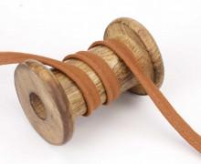 1 Meter Paspelband - Baumwolle - 1cm - Uni - Hellbraun