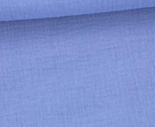 Musselin - Muslin - Double Gauze - Uni - Blau
