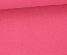 Musselin - Muslin - Double Gauze - Uni - Pink