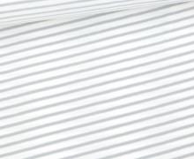Jersey - Simply Stripes - Medium - Weiß/Hellgrau