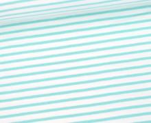 Jersey - Simply Stripes - Medium - Weiß/Türkis