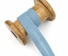 1 Bund Schrägband - 3 Meter - Zugeschnitten - Baumwolle - 20mm - Taubenblau Hell