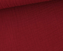 Bio Musselin Lotta - Muslin - Uni - Organic Cotton - Double Gauze - Bordeaux