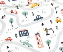 Modal - Jersey - UrbanStreetLife - Weiß - Bio-Qualität - abby and me