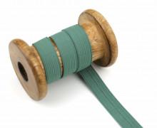 2 Meter Gummiband - Zugeschnitten -  Uni - 15mm - Altgrün
