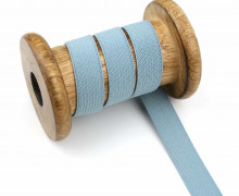 2 Meter Gummiband - Zugeschnitten -  Uni - 15mm - Graublau