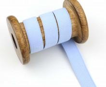 2 Meter Gummiband - Zugeschnitten -  Uni - 15mm - Hellblau