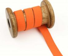 2 Meter Gummiband - Zugeschnitten -  Uni - 15mm - Orange