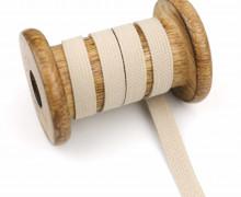 2 Meter Gummiband - Zugeschnitten -  Uni - 10mm - Sand