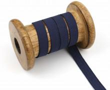 2 Meter Gummiband - Zugeschnitten -  Uni - 10mm - Stahlblau