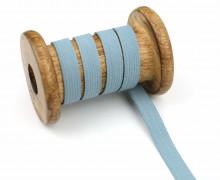 2 Meter Gummiband - Zugeschnitten -  Uni - 10mm - Graublau