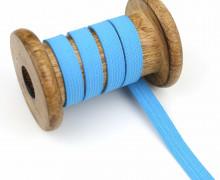 2 Meter Gummiband - Zugeschnitten -  Uni - 10mm - Himmelblau