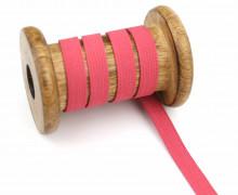 2 Meter Gummiband - Zugeschnitten -  Uni - 10mm - Erdbeerrot