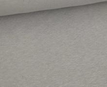 Leinen Jersey - Uni - Meliert - Grau