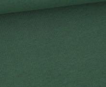 Leinen Jersey - Uni - Meliert - Dunkelgrün