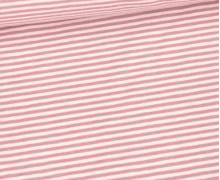 Jersey - Simply Stripes - Streifen - Small - Blassrosa/Altrosa