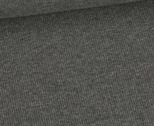 Jersey - Feine Rippen - 330g - Uni - Dunkelgrau Meliert