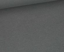 Jersey - Feine Rippen - 330g - Uni - Dunkelgrau