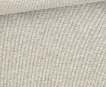 Jersey - Feine Rippen - 330g - Uni - Hellgrau Meliert