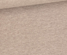 Jersey - Feine Rippen - 330g - Uni - Braun Meliert