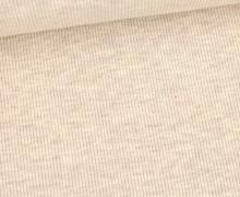 Jersey - Feine Rippen - 330g - Uni - Beige Meliert