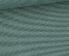 Jersey - Feine Rippen - 330g - Uni - Altgrün