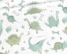 Jersey - GRRR Dinosaurier - Kombi - Hellgrau Meliert - Bio-Qualität - abby and me