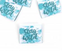 1 Label - Stay WILD - Weiß/Türkis