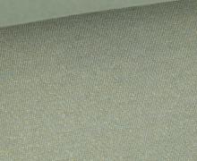 Glattes Bündchen - Glitzer - Uni - Schlauchware - Lichtgrün/Gold