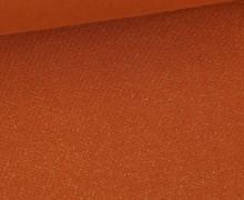Glattes Bündchen - Glitzer - Uni - Schlauchware - Rostorange/Gold