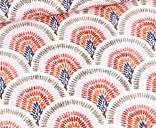 Viskose - Blusenstoff - Ethno Rainbows - Weiß