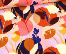 Viskose - Blusenstoff - Abstract Florals - Rosa
