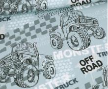 Sommersweat - Off Road Monstertruck - Taubenblau - Bio Qualität - abby and me