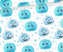 Jersey - Spooky Boo - Pumpkin Parade - Blau - Weiß - Halloween - Bio Qualität - abby and me