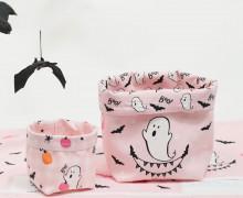 DIY-SET - NÄHSET - Utensilo - Süßer Spuk - Geisterstunde - Rosa- Halloween - abby and me