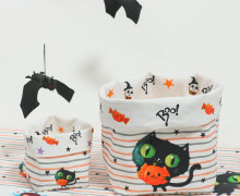 DIY-SET - NÄHSET - Utensilo - Immortal Animals - Midnight Cat - Halloween - abby and me