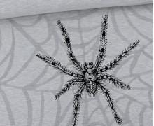 Sommersweat - Scary Spiders - Nosferatu-Spinne - Paneel - Halloween - Grau Meliert - abby and me