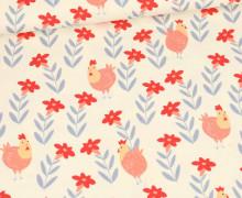 Jersey - Ecru - Lovely Chicken - Hühner- Bio Qualität - abby and me