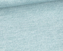 Sommersweat - French Terry - Bedruckt - Jeansoptik - Altgrün