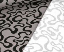 Bio Leichter Kuschelsweat - Soft Sweat - Organic Cotton - Twisted Lines - Grau