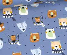 Sommersweat - French Terry - Sweet Animals - Taubenblau
