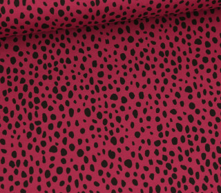 Sommersweat - French Terry - Rain of Dots - Bordeaux