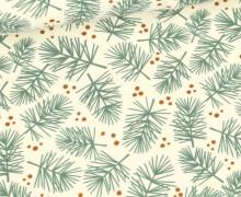Sommersweat - Simply Pines - Weihnachten - Ecru - Bio Qualität - abby and me