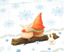 Sommersweat - Gnomes - Tomte Und Pepples - XXL - Paneel - Weihnachten - Weiß - Bio Qualität - abby and me