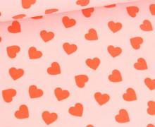 Nicky - Nicki - Bedruckt - Hearts - Babyrosa