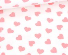 Nicky - Nicki - Bedruckt - Hearts - Weiß